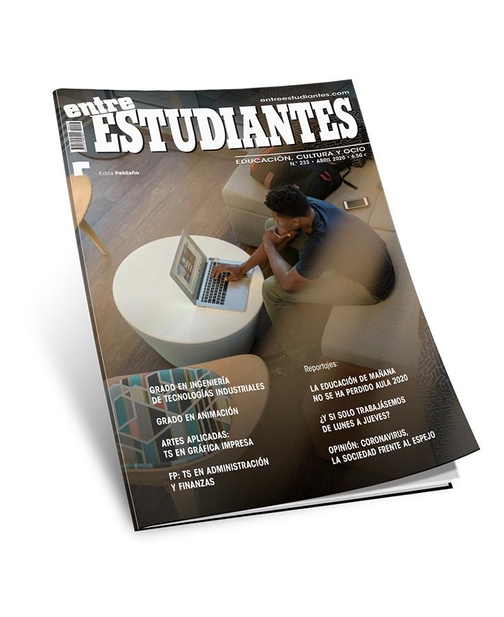 "Número de abril 2020 de la revista ""Entre Estudiantes"""